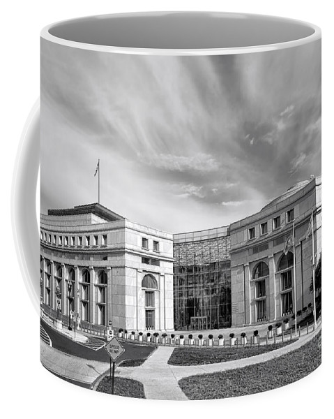 Washington Coffee Mug featuring the photograph Thurgood Marshall Federal Judiciary Building by Olivier Le Queinec