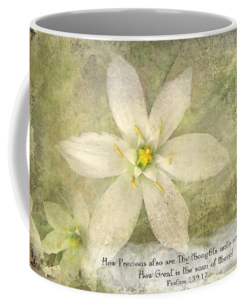 Nature Coffee Mug featuring the photograph Thy Thoughts by Debbie Portwood