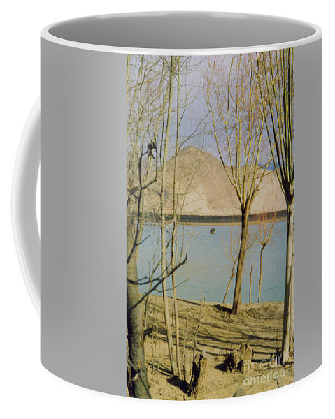 First Star Coffee Mug featuring the photograph Tibet Lake Burial by First Star Art
