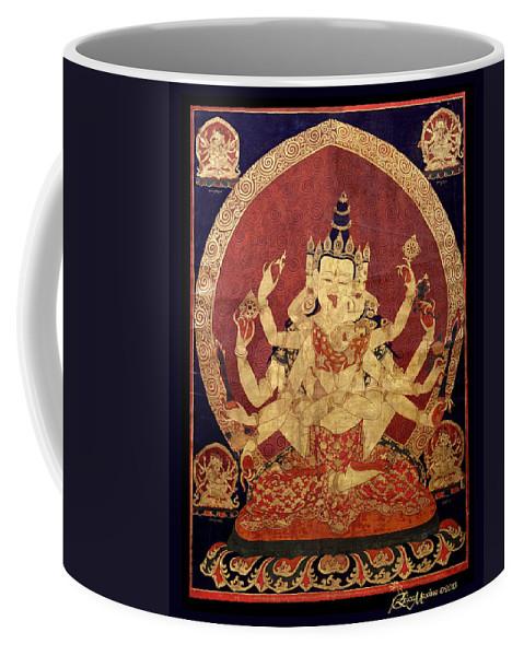Tibet Coffee Mug featuring the photograph Tibetan Art by Ericamaxine Price