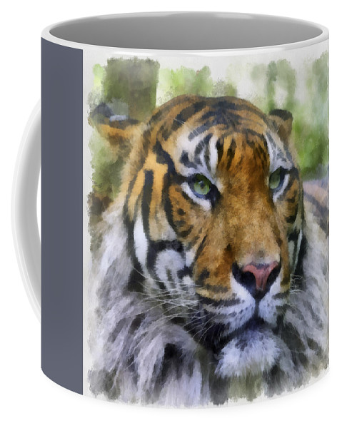 Aquarell Coffee Mug featuring the photograph Tiger 26 by Ingrid Smith-Johnsen