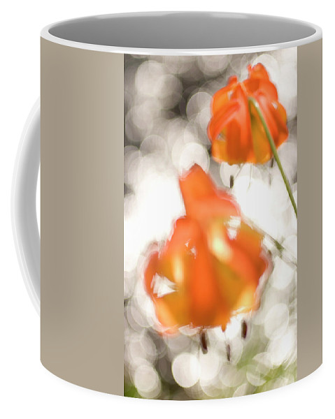 Beauty In Nature Coffee Mug featuring the photograph Tiger Lillies Near The Rogue Wild River by Phil Schermeister