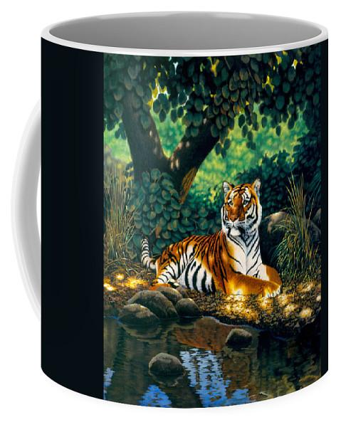 Animal Coffee Mug featuring the photograph Tiger by MGL Studio - Chris Hiett