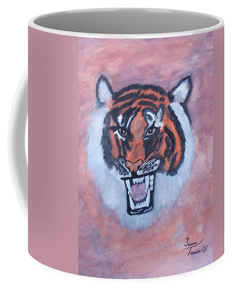 Watercolor Coffee Mug featuring the painting Tiger by Susan Turner Soulis
