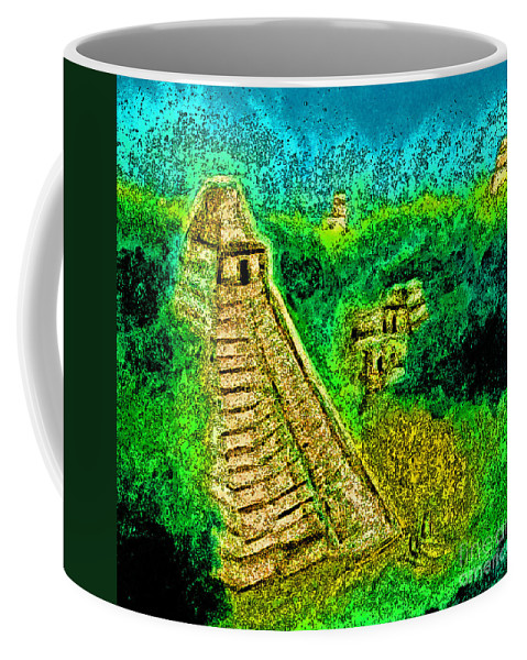 Jrr Coffee Mug featuring the drawing Tikal By Jrr by First Star Art