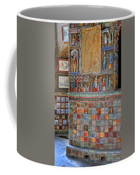 Castle Coffee Mug featuring the photograph Tilework At The Castle by Dave Mills
