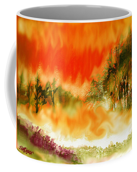 Timber Blaze Coffee Mug featuring the mixed media Timber Blaze by Seth Weaver