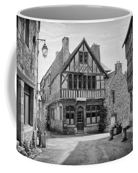 Timber Houses Coffee Mug featuring the photograph Timber Framed Houses In France by Ann Garrett