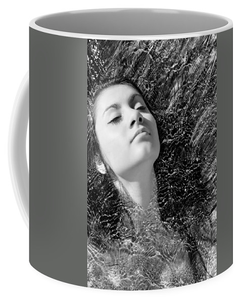 Bw Portrait Coffee Mug featuring the photograph Time And Tide by Laura Fasulo