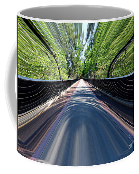 Intense Coffee Mug featuring the photograph Time Bridge by Skip Willits
