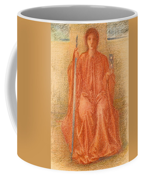 Edward Burne-jones Coffee Mug featuring the drawing Time by Edward Burne-Jones