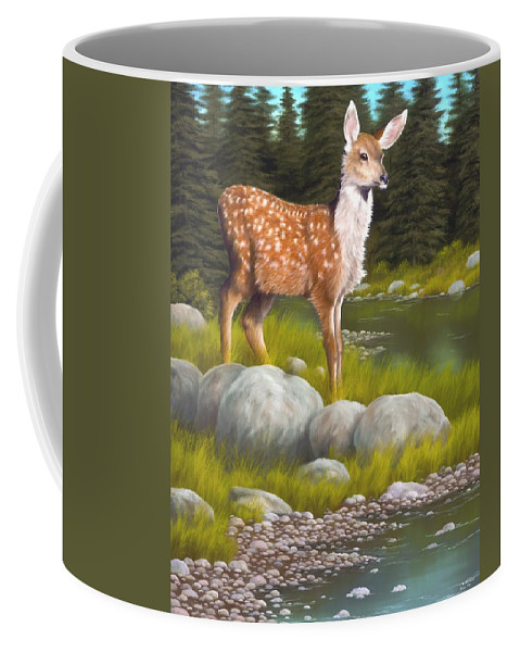 Animals Coffee Mug featuring the painting Time For A Drink by Rick Bainbridge