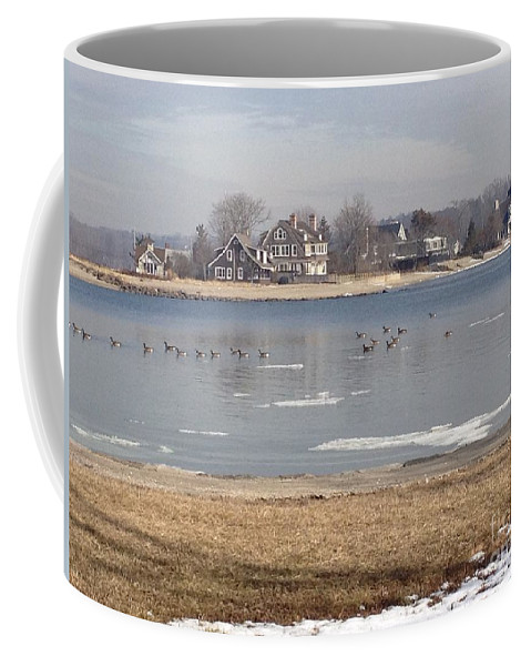 Winter Coffee Mug featuring the photograph Time In New England by Beth Saffer