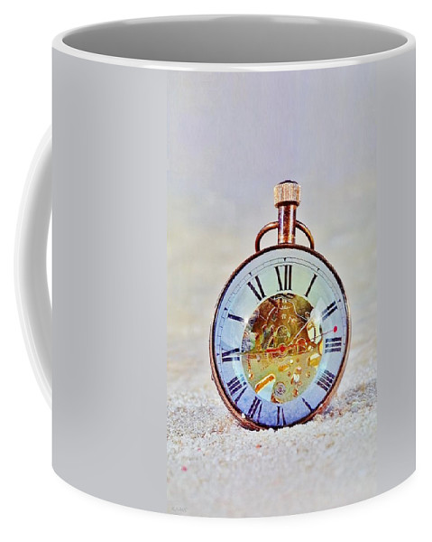 Time Peice Coffee Mug featuring the photograph Time In The Sand by Rob Hans