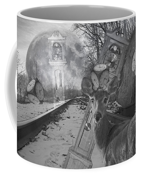 Train Coffee Mug featuring the digital art Time Is A Target by Betsy Knapp