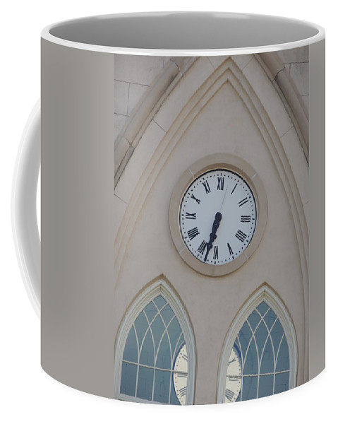 Clock Coffee Mug featuring the photograph Time Passes by Aaron Martens