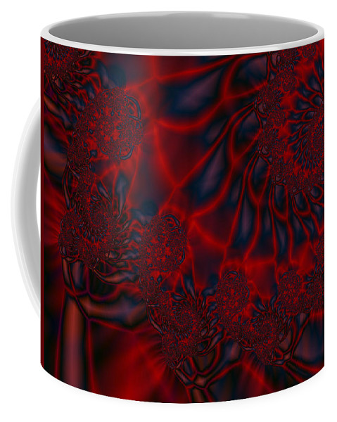 Fractal Art Coffee Mug featuring the digital art Time Slide by Elizabeth McTaggart