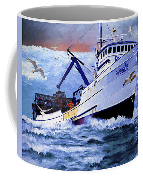 Alaskan King Crabber Coffee Mug featuring the painting Time To Go Home by David Wagner