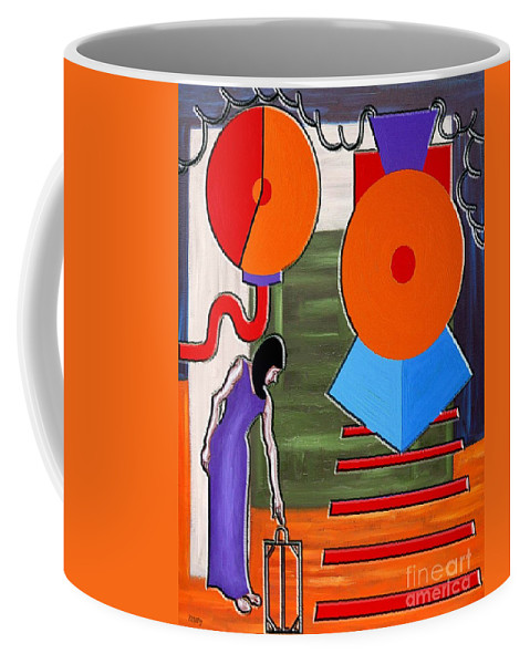 Train Coffee Mug featuring the painting Time To Go by Patrick J Murphy