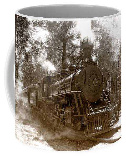 Locomotive Coffee Mug featuring the photograph Time Traveler by Donna Blackhall