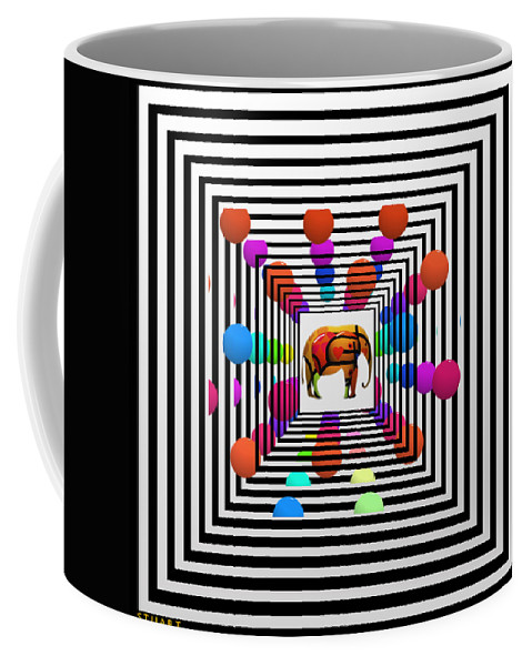 Elephant Coffee Mug featuring the painting Time Tunnel by Charles Stuart