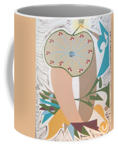Abstract Coffee Mug featuring the painting Times Up by Dean Stephens