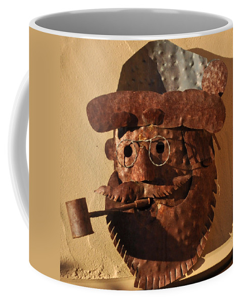 Tin Man Coffee Mug featuring the photograph Tin Man With Pipe by Jay Milo
