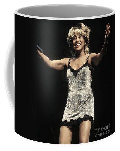 Rock 'n' Roll Coffee Mug featuring the photograph Tina Turner by Concert Photos