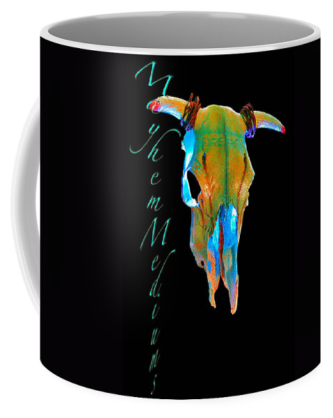 Skulls Coffee Mug featuring the digital art Tips by Mayhem Mediums