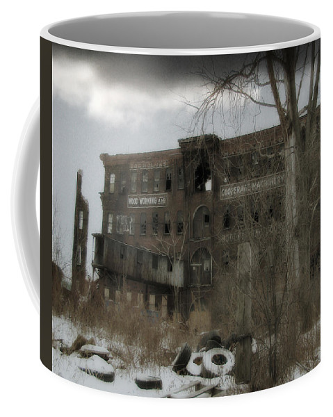 Snow Coffee Mug featuring the photograph Where All The Tires Go by Gothicrow Images