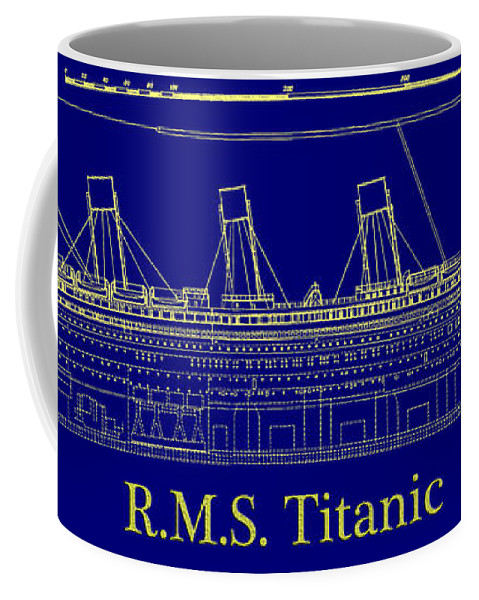 Titanic By Design Coffee Mug featuring the digital art Titanic By Design by Bill Cannon
