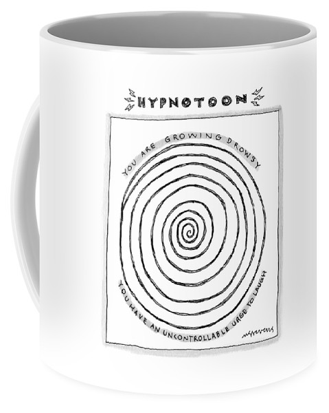 Hypnotoon Coffee Mug featuring the drawing Title: Hypnotoon A Picture Of A Large Swirl - by Mick Stevens