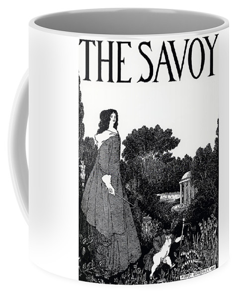 Aubrey Coffee Mug featuring the painting Title Page From The Savoy by Aubrey Beardsley