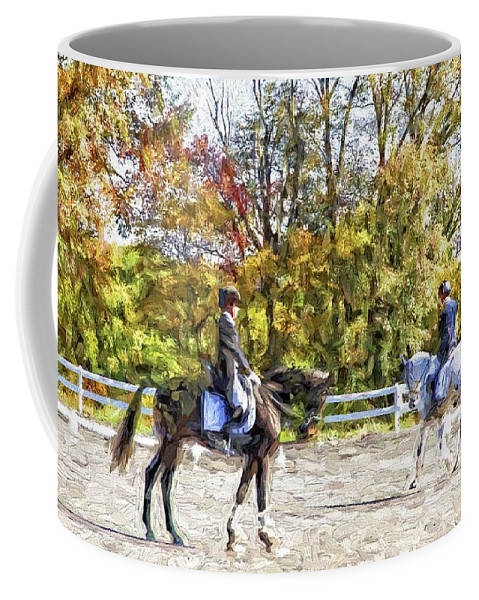 Horses Coffee Mug featuring the photograph To A Halt by Alice Gipson