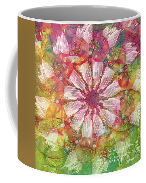 New Year Coffee Mug featuring the digital art To Everyone Happy New Year by Deborah Benoit