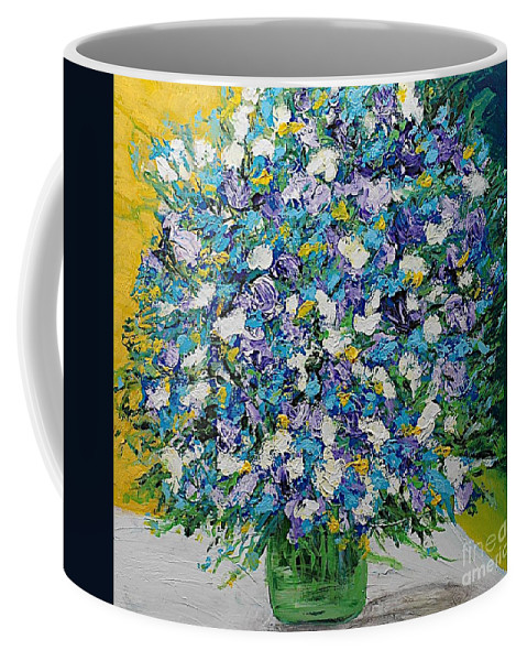 Landscape Coffee Mug featuring the painting To Have And Delight by Allan P Friedlander