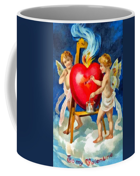 To My Valentine Coffee Mug featuring the digital art To My Valentine by Unknown