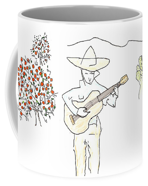 Jim Taylor Coffee Mug featuring the painting To The Oranges by Jim Taylor