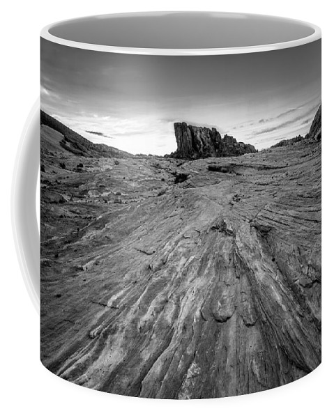 Black & White Coffee Mug featuring the photograph To The Rock by Peter Tellone