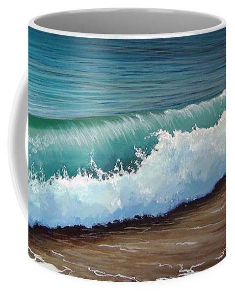 Wave On A Florida Beach Coffee Mug featuring the painting To The Shore by Hunter Jay