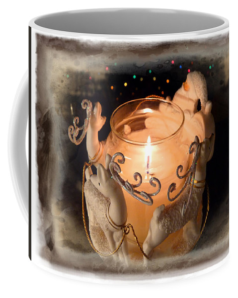 Holiday Coffee Mug featuring the photograph To The Top Of The Porch To The Top Of The Wall Now Dash Away Dash Away Dash Away All by Lucinda Walter