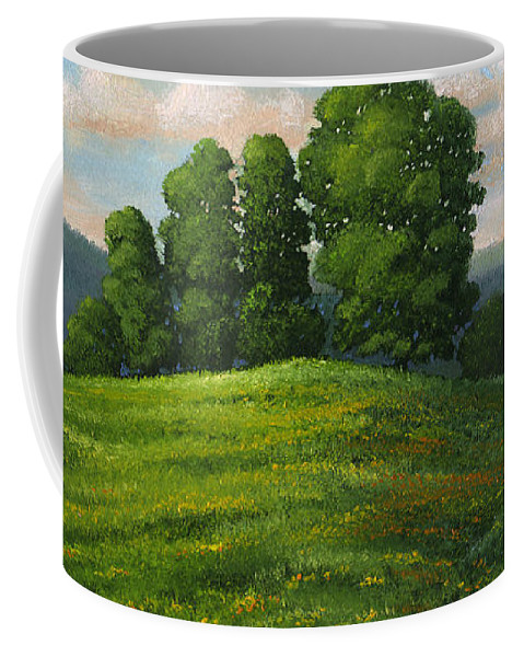 Landscape Coffee Mug featuring the painting Toboggan Hill by Frank Wilson