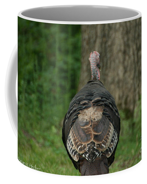 Turkey Coffee Mug featuring the photograph Toddling by Susan Herber