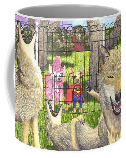 Dog Coffee Mug featuring the painting Told You by Catherine G McElroy