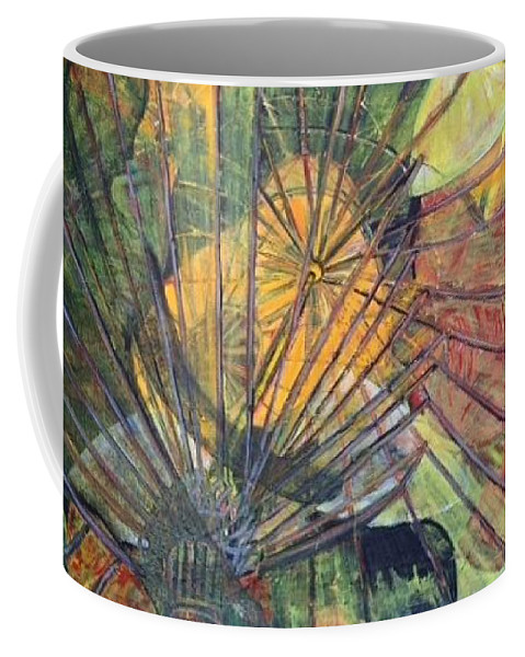 Village In China Coffee Mug featuring the painting Tongli Town by Peggy Blood