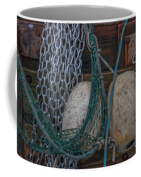 Shrimp Boat Coffee Mug featuring the photograph Tools Of The Trade by Dale Powell