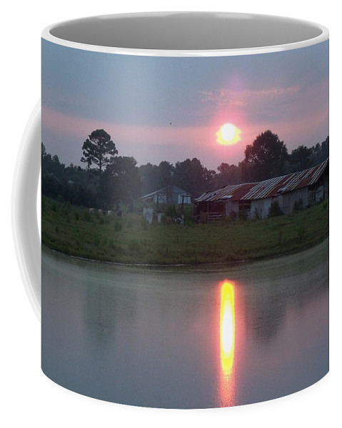 Barn Coffee Mug featuring the photograph Tootsie's Katrina Barn by Lanita Williams