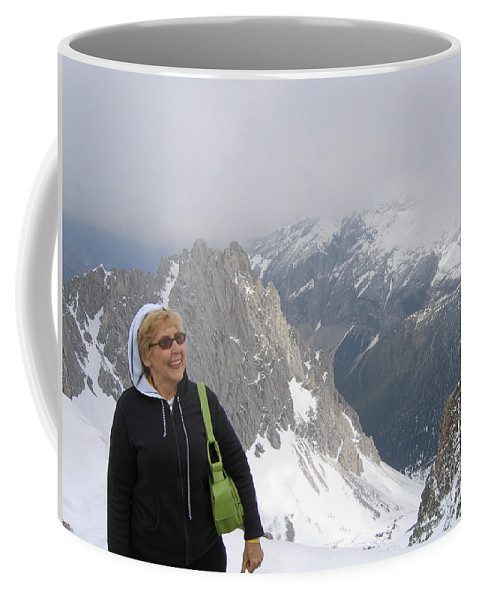 Mountaintop Coffee Mug featuring the photograph Top Of The World by Ann Horn