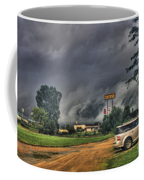 Tornado Coffee Mug featuring the photograph Tornado Over Madison 3 by Tommy Anderson
