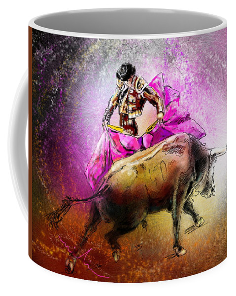 Animals Coffee Mug featuring the painting Toroscape 38 by Miki De Goodaboom